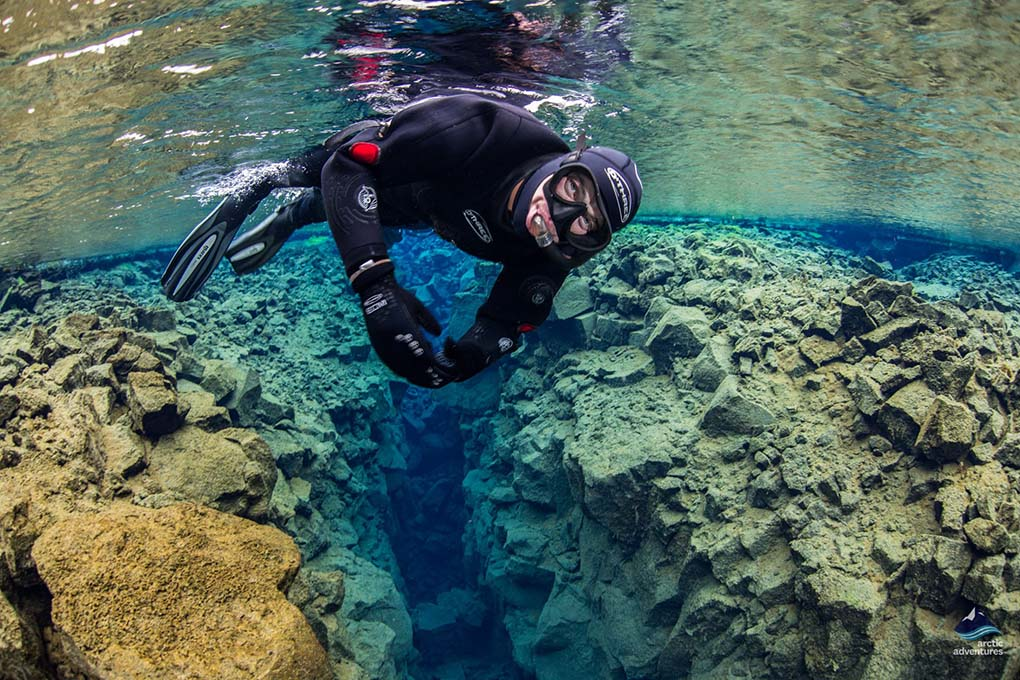 Scuba Diving in Silfra Fissure, Iceland