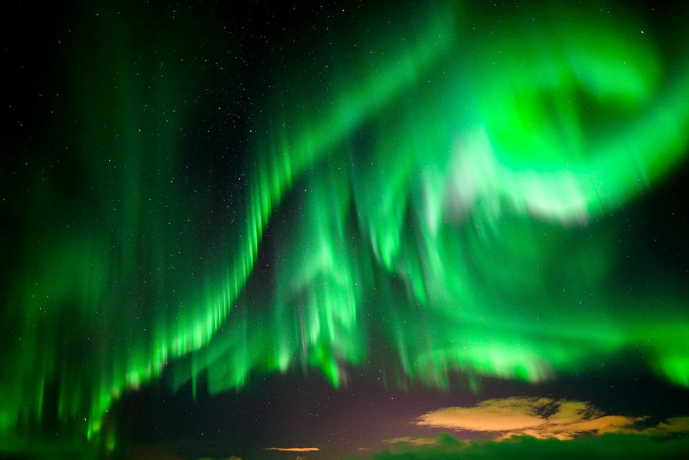 Strong Northern Lights activity