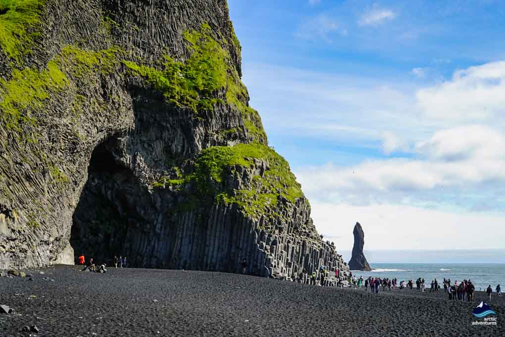 Reynisfjara Beach in the summer