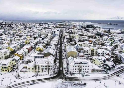 Reykjavik in wintertime