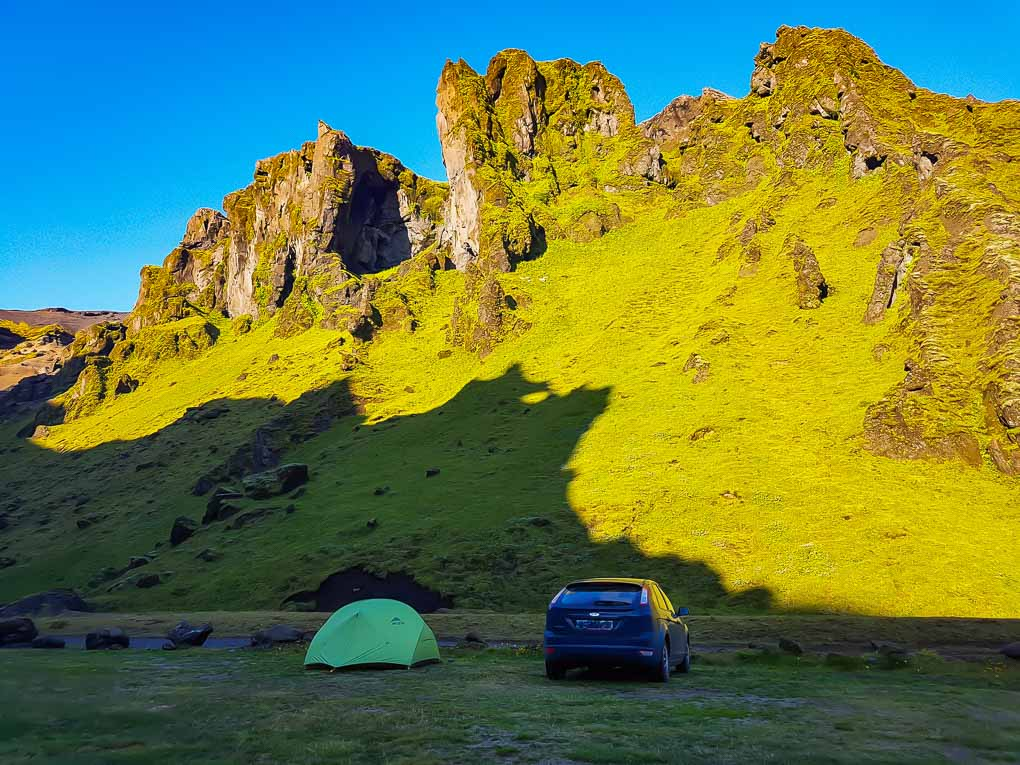 Car camping in South Iceland