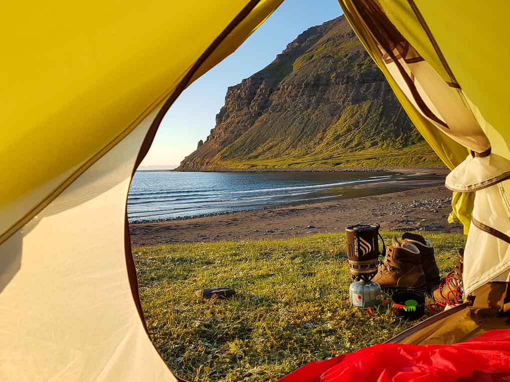 campsite in the Westfjords