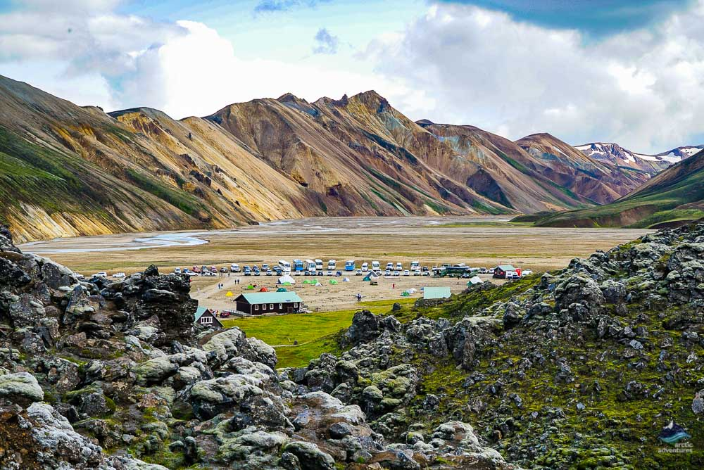 campsite in Landmannalaugar