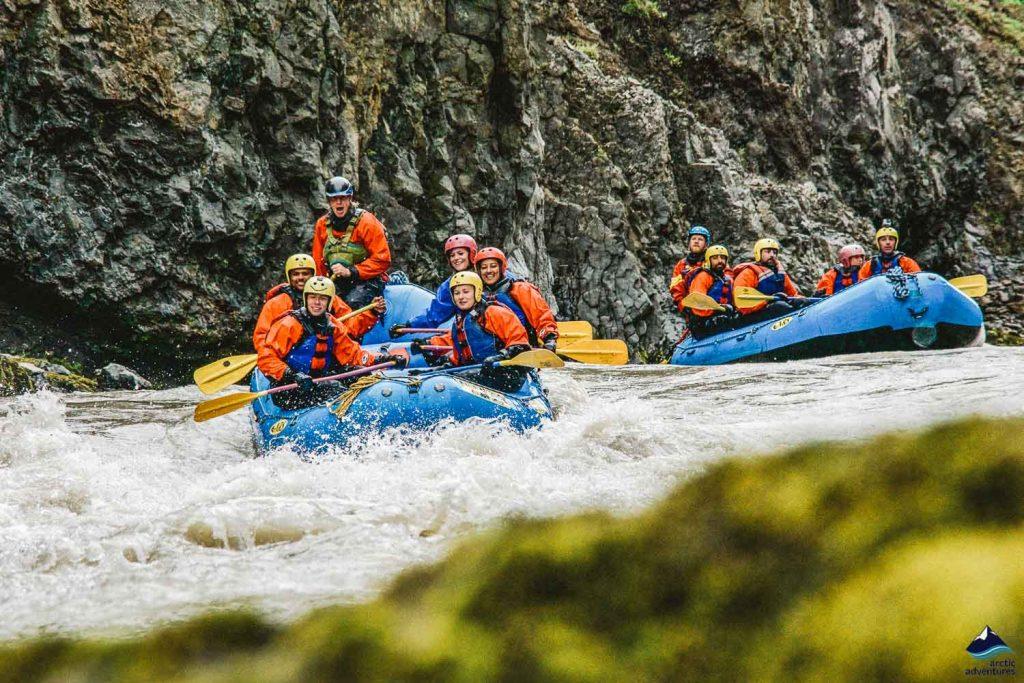 Viking whitewater rafting in Iceland