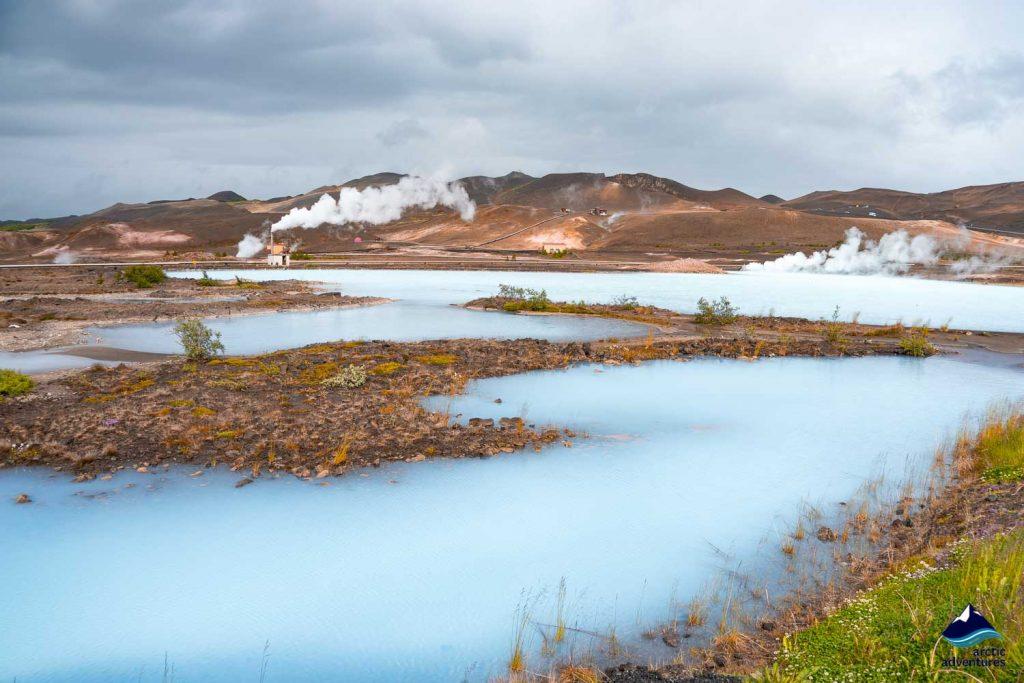 Lake Myvatn volcano plumes