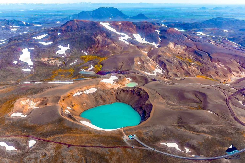Iceland Crater Volcano Snow