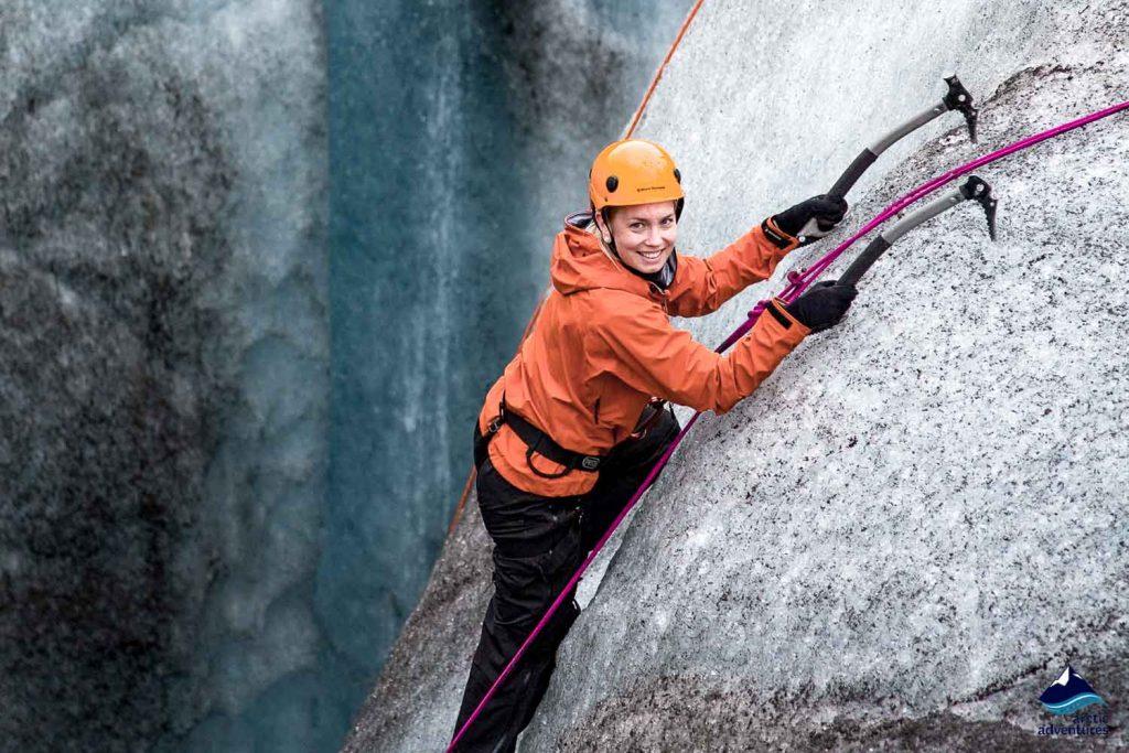 Ice climbing at Vatnajokull National Park