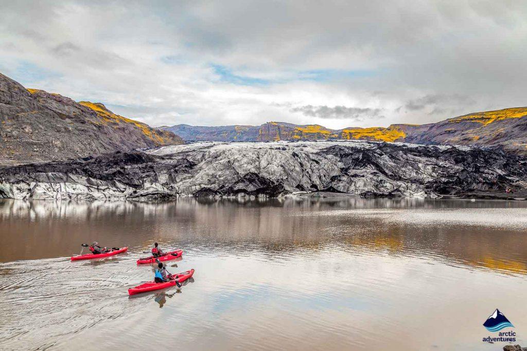 Kayaking at Solheimajokull Glacier