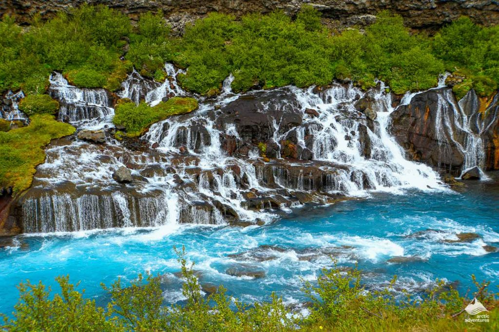 The incredible Hraunfossar Waterfall in West Iceland