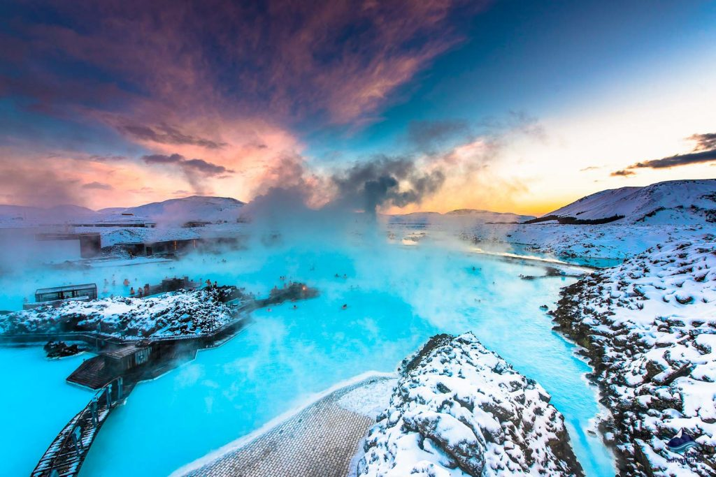 Mineral-rich waters of the Blue Lagoon