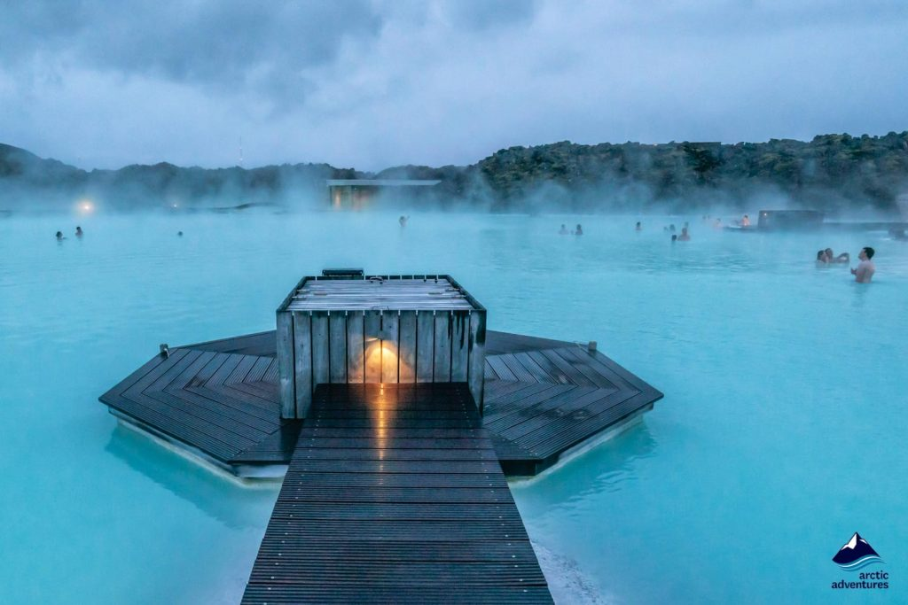 Geothermal Spa Blue Lagoon in Iceland.