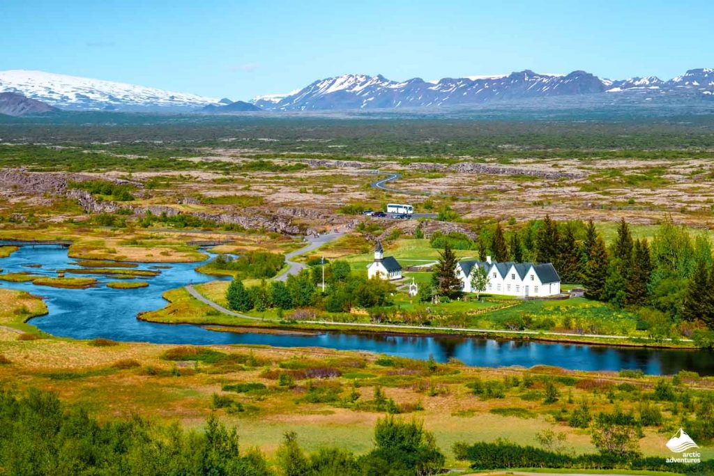 Landscape in the Thingvellir National Park in Iceland