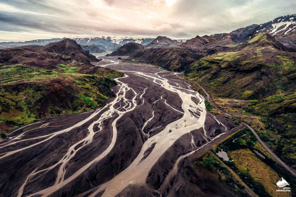 Thorsmork in highland of Iceland