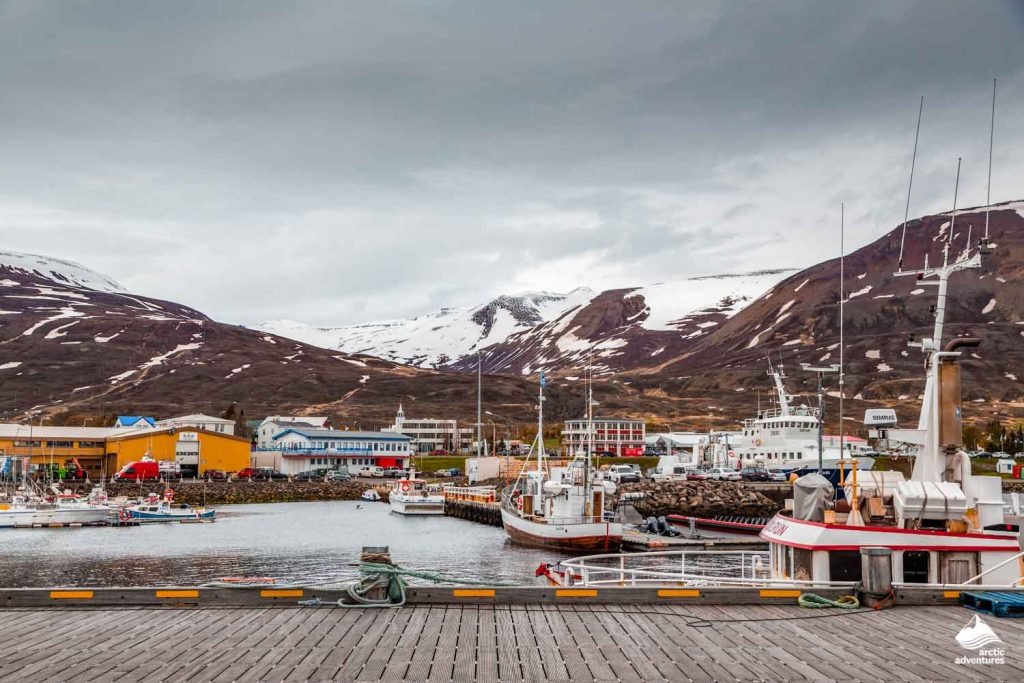 Dalvik Town in North Iceland