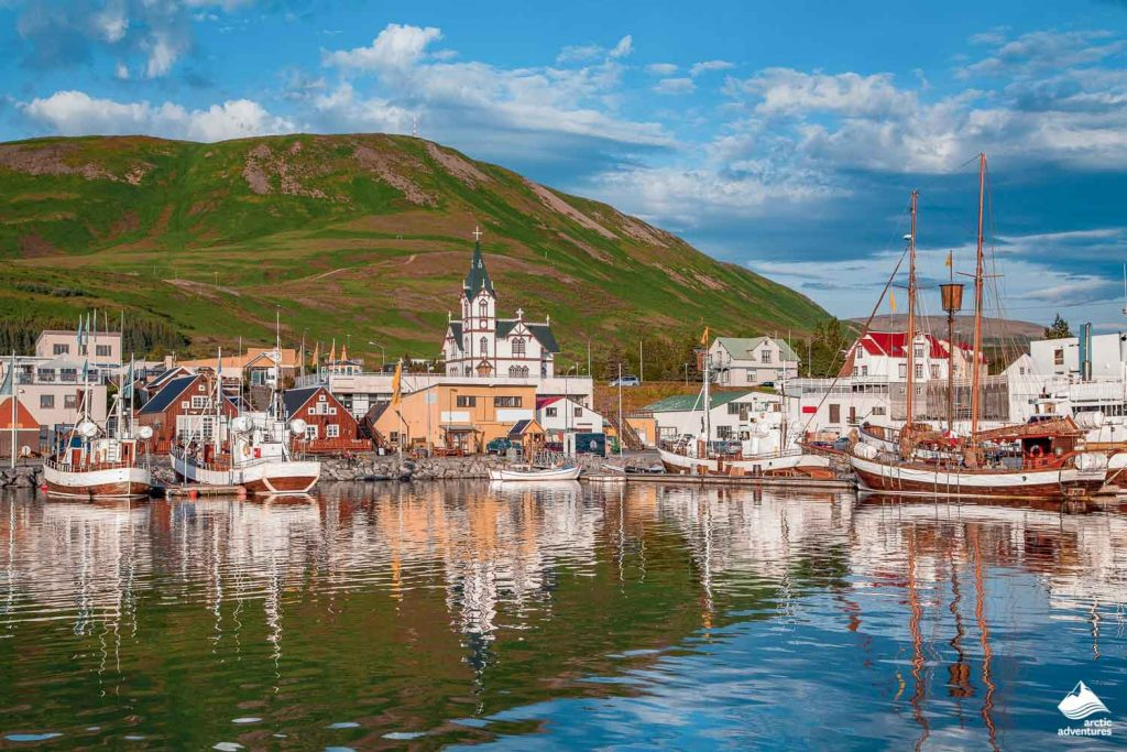 Fishing village in Husavik