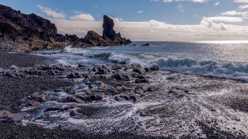 Djupalonssandur beach in Iceland