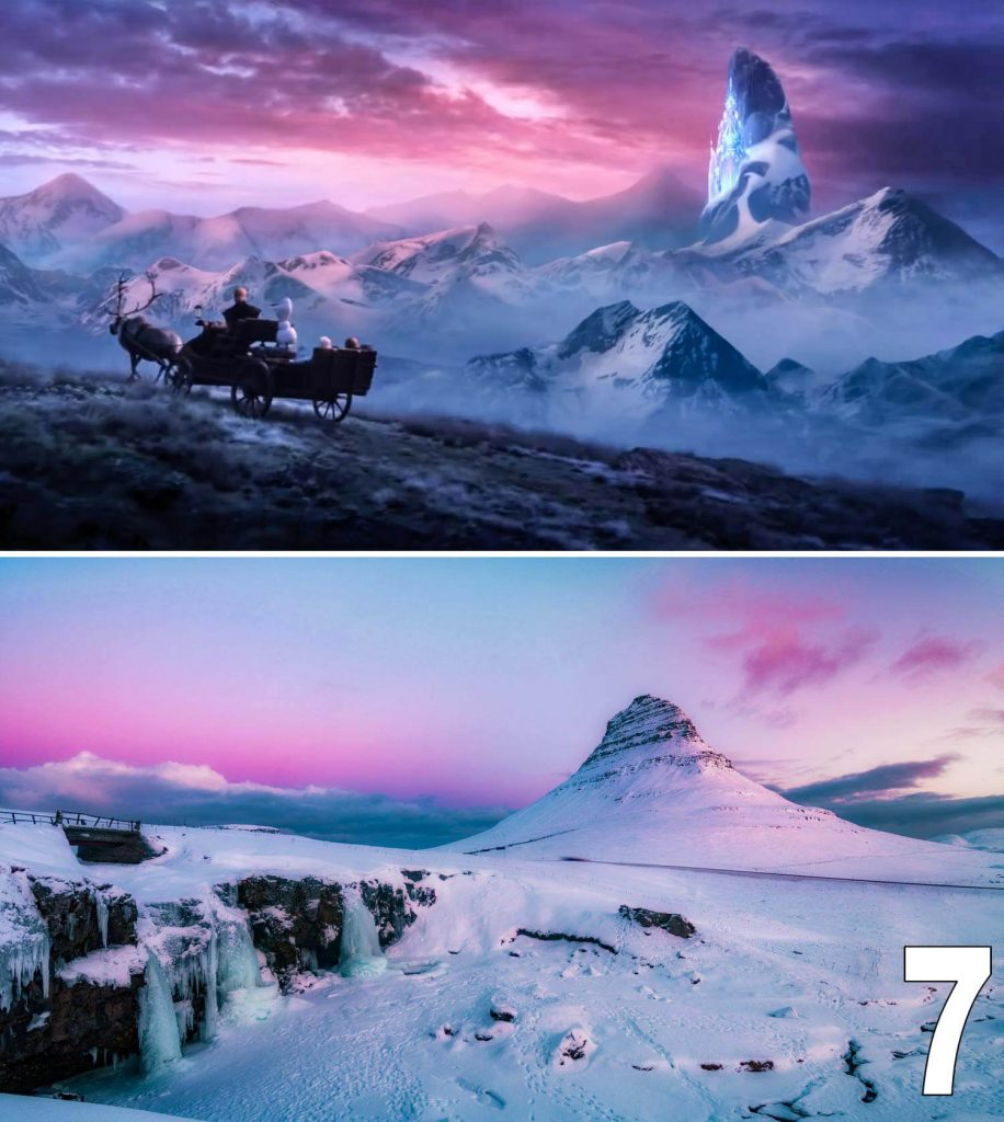 kirkjufell mountain snafellsnes movie frozen 2