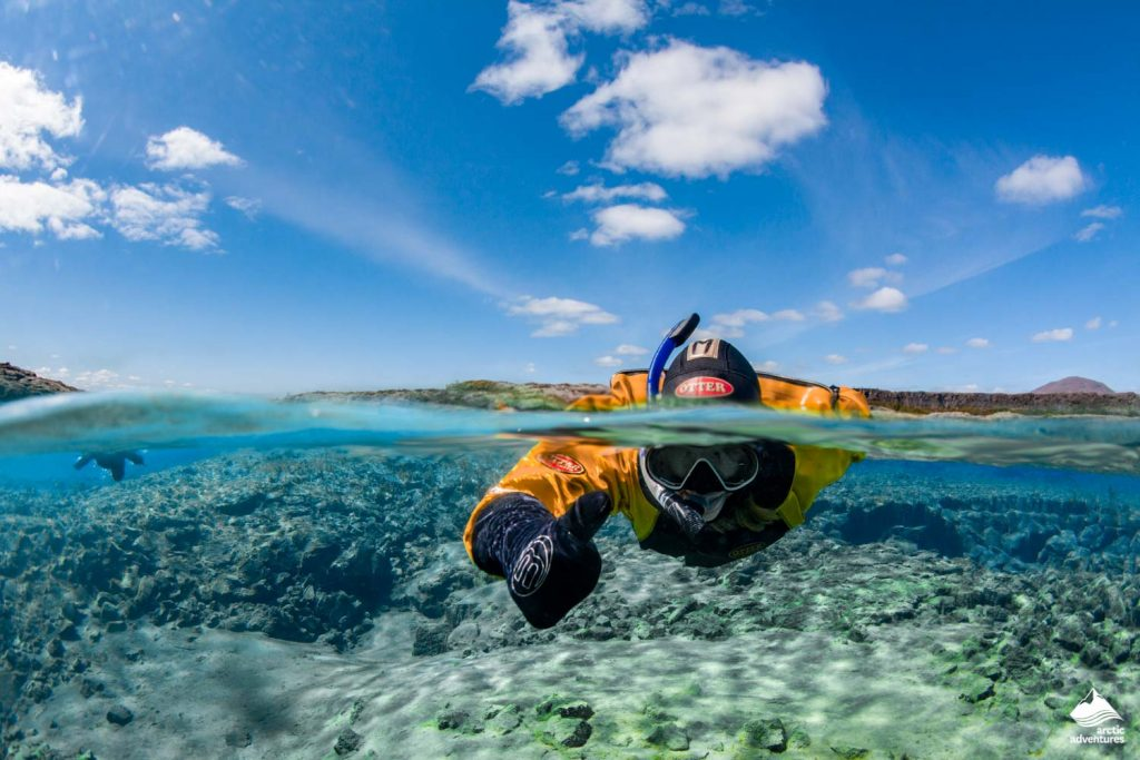Snorkeling in Silfra Fissure in Iceland