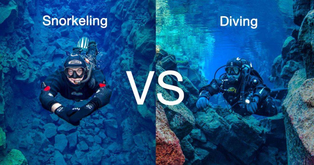 Snorkeling vs Scuba Diving
