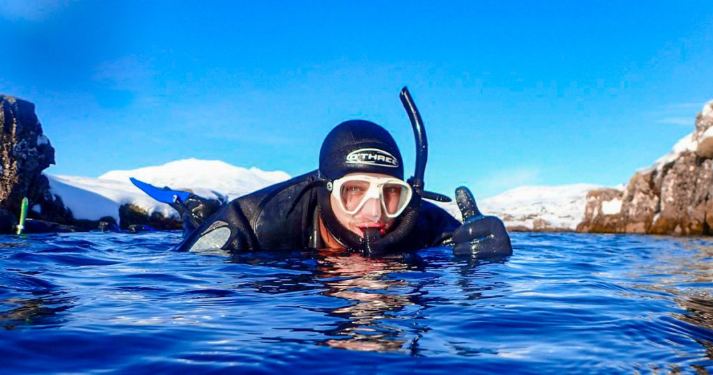Snorkeling in Iceland