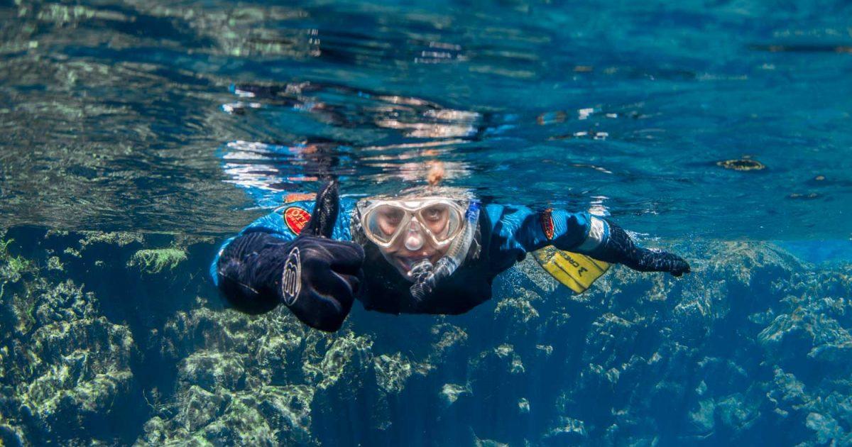 Snorkeling in Silfra Fissure Iceland | Dive Silfra