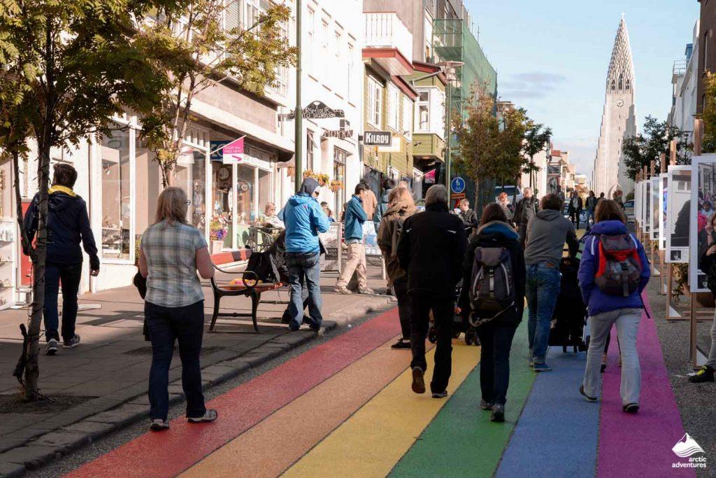 LGBT pathway in Reykjavik city