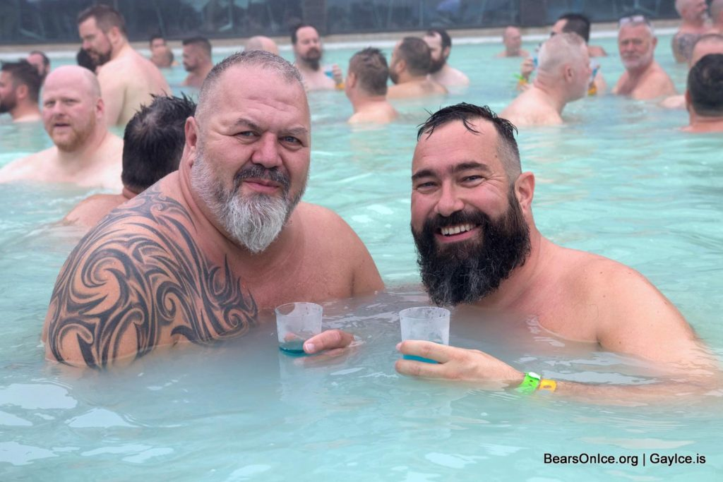 Gays bathing in Blue lagoon
