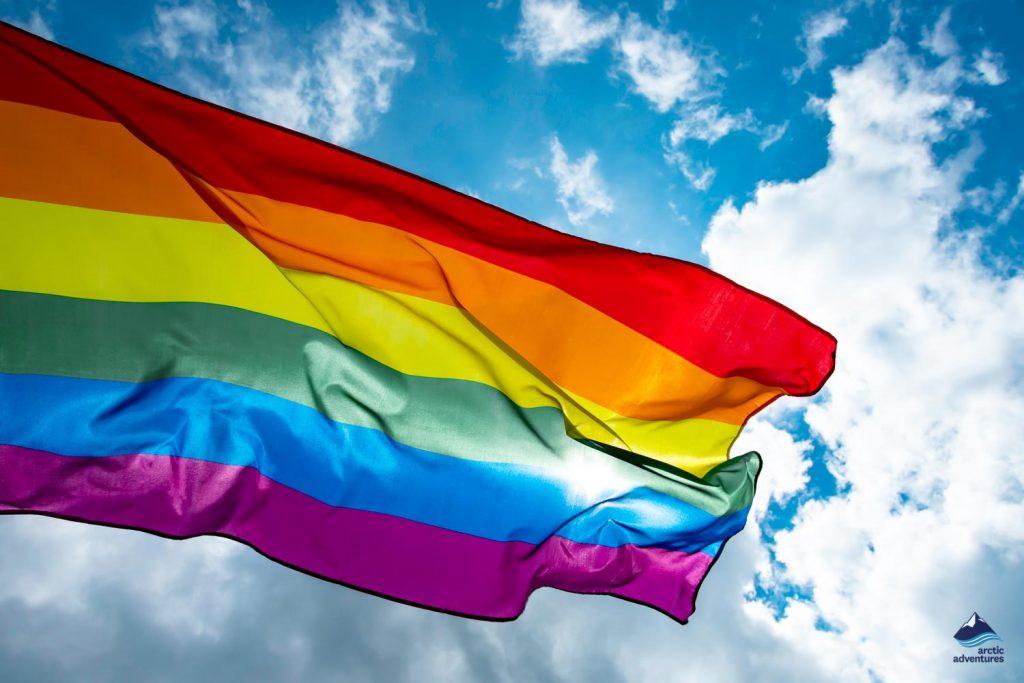 LGBT flag in Blue Sky