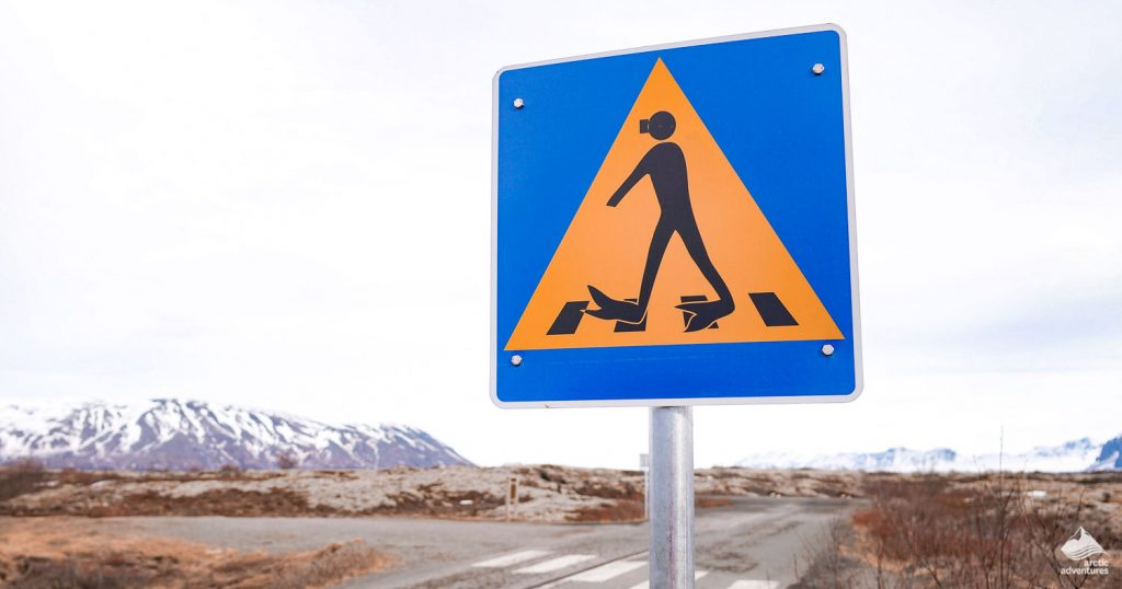 Snorkeling sign in Iceland