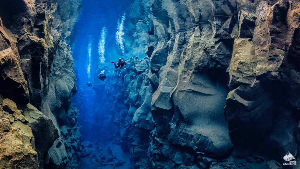 Diving between two continents in iceland
