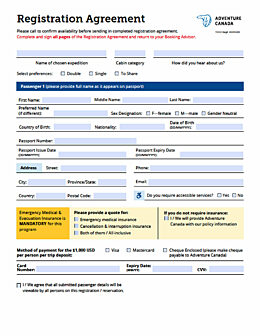 Registration agreement cover