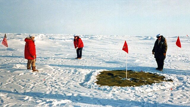 North Pole golf expedition