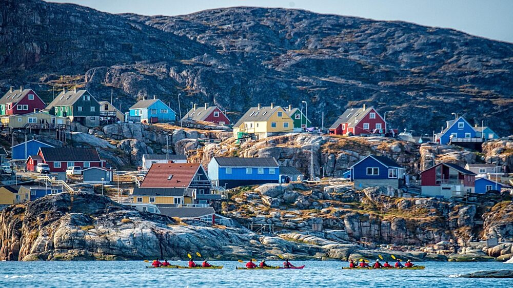 Kayakers west Greenland