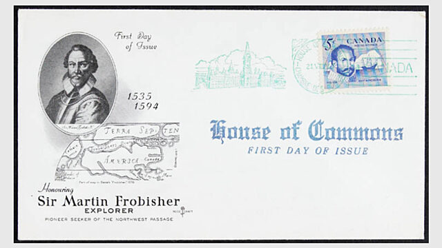 1963 a canadian postage stamp released honouring martin frobisher