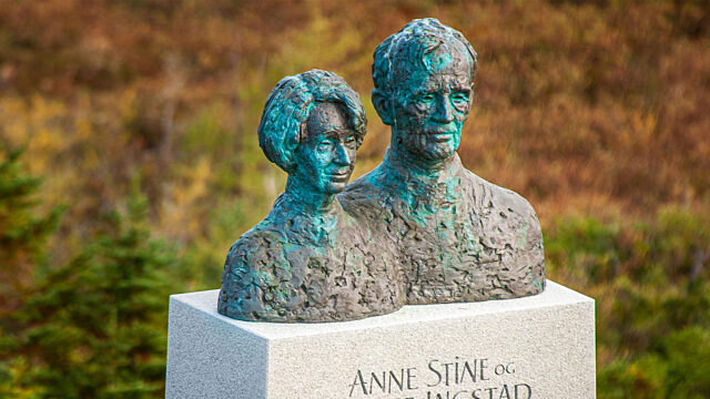 Busts of Anne Stine and Helge Ingstad