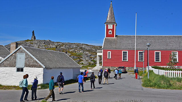 Day 11 walking to Nuuk cathedral
