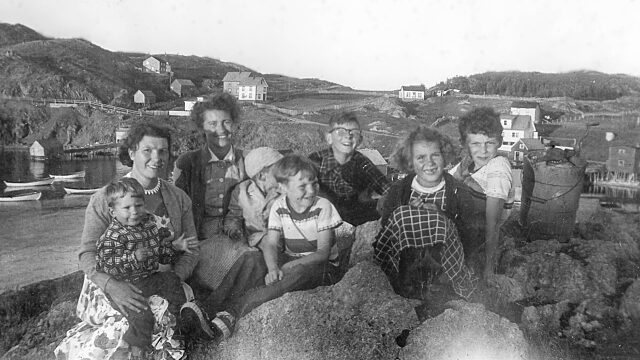 Dennis Minty family making ice cream historical photo