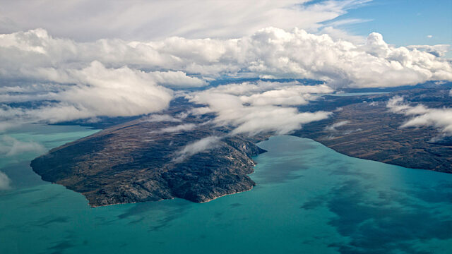 Frobisher Bay from the air