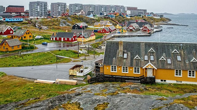 Homes and apartment buildings of Nuuk waterfront
