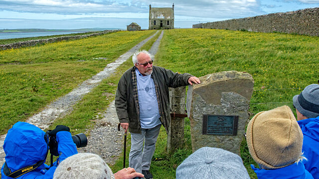 John Rae Society President Andrew Appleby tours guests