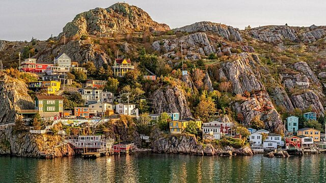 Newfoundland Fall St Johns Harbour Dennis Minty
