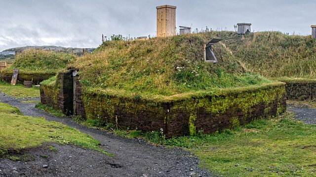 Reconstructed Viking buildings