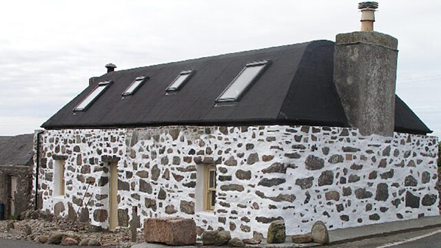 Restored Tiree spotted house