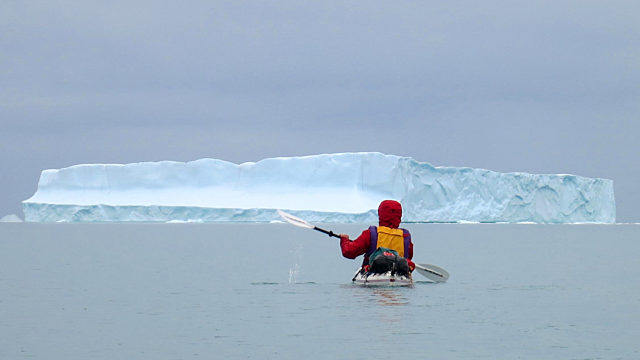 David Reid Kayaking In Arctic
