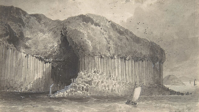 Drawing of Fingals Cave by David Octavius Hill 1820-70