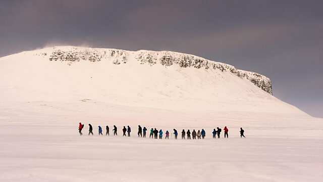 Hikers at beechey island