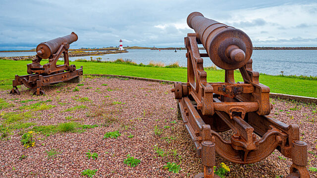 Historical canons in Saint Pierre