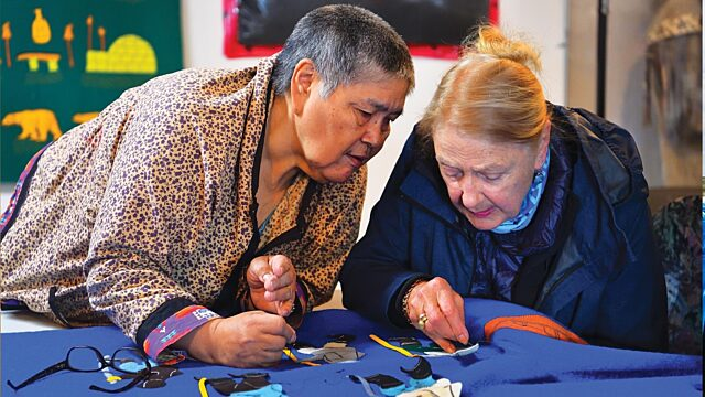 Inuit culture sewing teaching