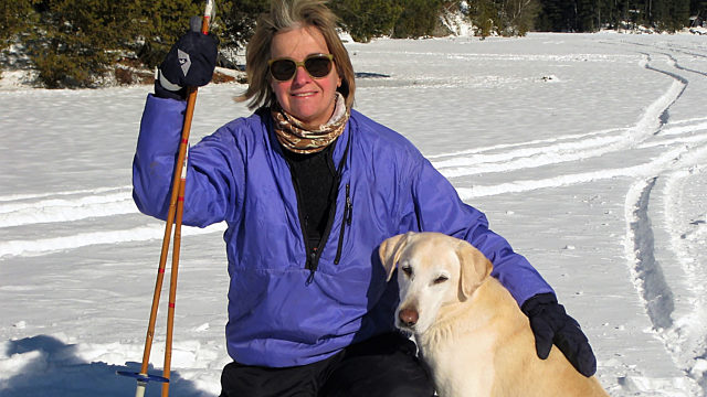 Laurie Pelly And Her Dog