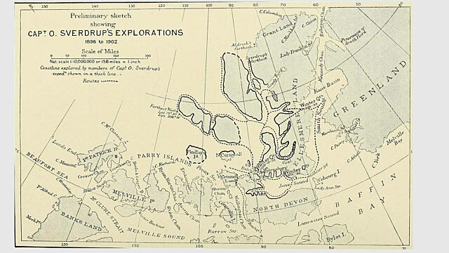 Map of Sverdrup explorations appeared in The National Geographic Magazine 1902 NGS